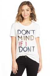 Rvca 'Don't Mind' Graphic Tee Vintage White