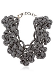 Alienina Altrove Brass And Cotton Knot Necklace