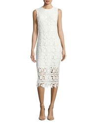Shoshanna Daffodil Lace Sheath Dress Optic White