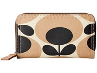 Orla Kiely Big Zip Wallet Nude Wallet Handbags Beige