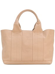 Tomas Maier Canvas Tote Women Cotton One Size Nude Neutrals