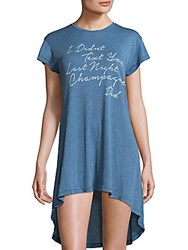 Wildfox Couture Front Graphic Pullover Dress Blush