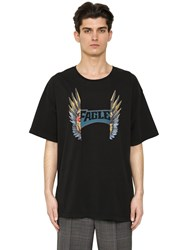 Maison Martin Margiela Printed Cotton Jersey Oversized T Shirt