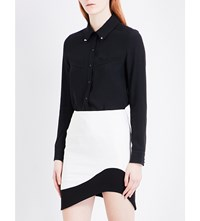 Thierry Mugler Studded Crepe Shirt Black