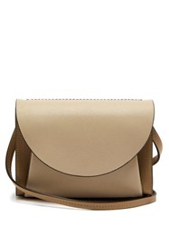 Marni Law Panelled Leather Belt Bag Beige Multi
