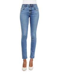 Helmut Lang Lightly Distressed Skinny Ankle Jeans
