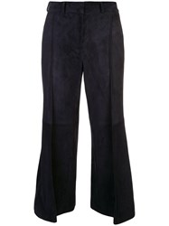 Khaite Bruce Suede Cropped Trousers 60