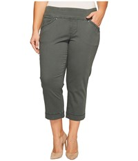 Jag Jeans Plus Size Marion Crop In Bay Twill Soapstone Women's Casual Pants Beige