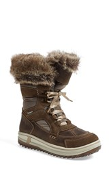Santana Canada Women's 'Marta' Water Resistant Insulated Winter Boot Tan Fabric