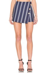 1. State Button Cross Front A Line Skort Navy