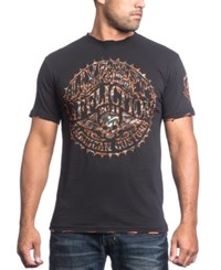 Affliction Men's Sacred Seal Graphic Print T Shirt Black