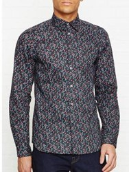 Paul Smith Ps By Floral Print Long Sleeve Shirt Navy