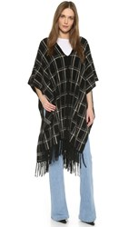 Jenni Kayne Plaid Shawl Black Charcoal