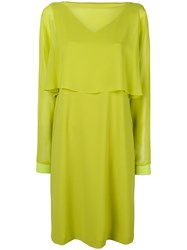 D.Exterior Top Detail Midi Dress Green