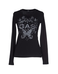 Gas Jeans Gas T Shirts Black