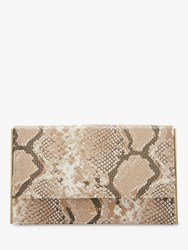 Dune Binkiie Clutch Bag Natural Snake