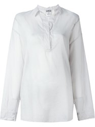 Kristensen Du Nord Button Sheer Blouse Grey