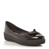 Fitflop Pretty Bow Supe Bow Ballerina Shoes Black