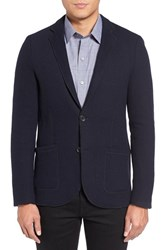 Zachary Prell Men's Trim Fit Knit Sport Coat Navy