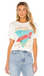 Daydreamer Rolling Stones 81 American Tour Weekend Tee In White. Vintage White