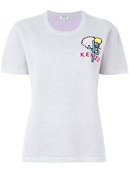 Kenzo Cactus Embroidered Top Grey