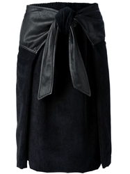 Damir Doma Front Knotted Cord Skirt Black
