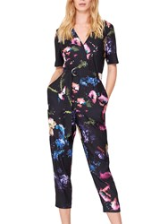 Damsel In A Dress Pixelated Floral Print Jumpsuit Multi