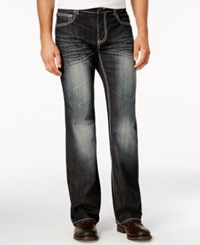 Inc International Concepts Men's Wagner Relaxed Fit Dark Blue Wash Jeans Only At Macy's Dark Wash