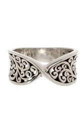 Lois Hill Sterling Silver Intertwined Tapered Band Ring Size 7 Metallic
