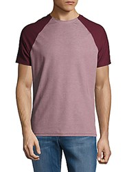 Vince Camuto Port Pima Cotton Blend Colorblock Tee