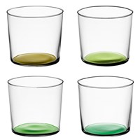 Lsa International Coro Assorted Tumblers Set Of 4 Leaf