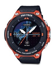 G Shock Pro Trek Black Dial Smart Strap Watch Orange