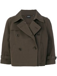 Aspesi Double Breasted Jacket Brown