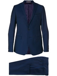 Paoloni Two Piece Formal Suit Blue