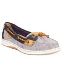 Sperry Dunefish Crosshatch Boat Shoes Women's Shoes Navy