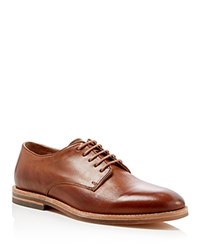 H By Hudson Hadstone Plain Toe Derby Shoes Tan