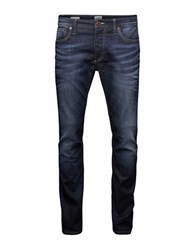 Jack And Jones Clark Original Slim Fit Jeans Blue