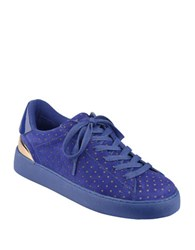 Nine West Palyla Lace Up Sneakers Navy Blue