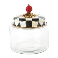 Mackenzie Childs Courtly Check Kitchen Canister Black And White