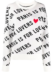 Zadig And Voltaire Paris Is For Lovers Heart Print Jumper 60