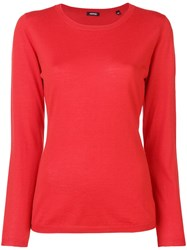 Aspesi Round Neck Sweater Red