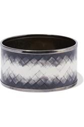 Bottega Veneta Rutheniu Plated Enael Bangle Gunetal Gunmetal