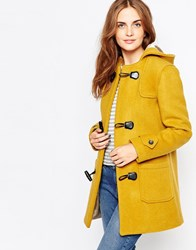 Cooper And Stollbrand Heritage Duffle Coat With Toggle Closure Mustardcheck