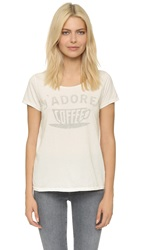 Sol Angeles Jadore Coffee Crew Tee D White