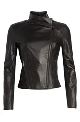 Andrew Marc New York By Felix Stand Collar Leather Jacket