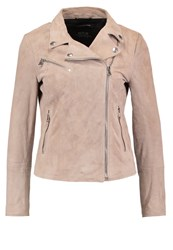 Replay Leather Jacket Beige