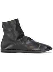 Officine Creative Zip Back Ankle Boots Black