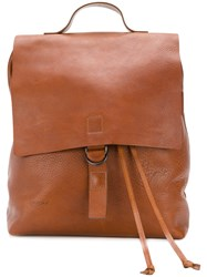 Marsell Drawstring Backpack Women Leather One Size Brown
