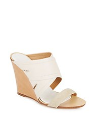 Rag And Bone Shaw Mule Wedge Sandals Natural