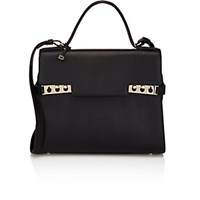 Delvaux Women's Tempete Gm Satchel Black Blue Black Blue